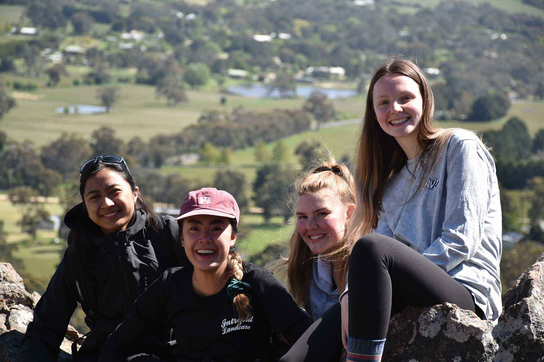 Some future Landcare leaders on an Intrepid Landcare Leadership Retreat in Macedon Ranges in October 2018.