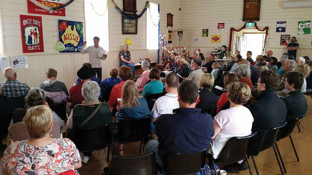 A community consultation session held in 2017 on developing the river garden at Bass.