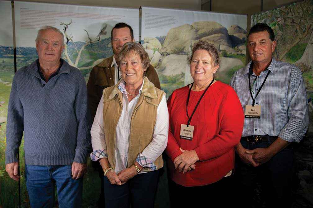 From left, conference speakers Colin Seis, Kym Kruse, Dr Christine Jones, Dianne Haggerty and Ian Haggerty.<br />