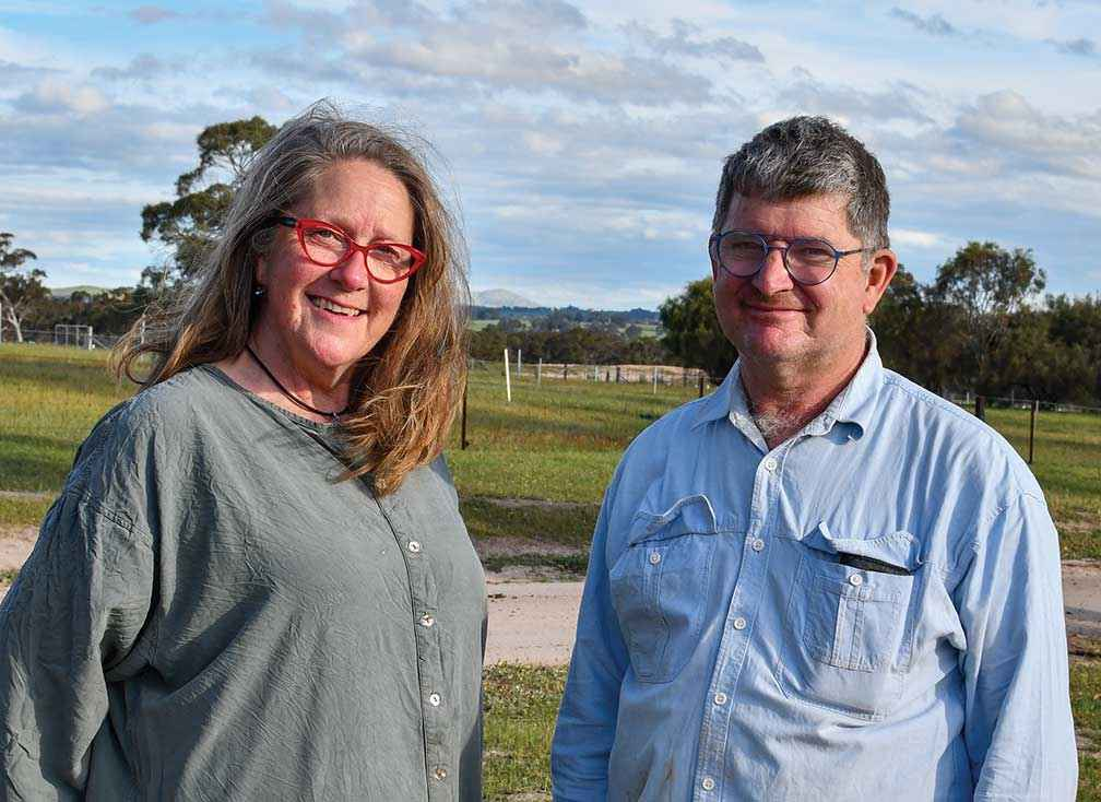 Rita Bikins and David Margetson met at a Project Platypus planting event and now own and manage an olive grove together at Pomonal.