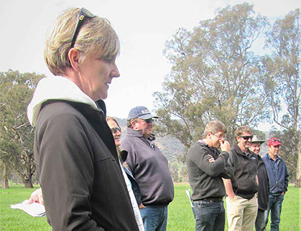 Dairy farmer Judy Johnson from Yarram was involved in the farmer groups that directed the future climates research.