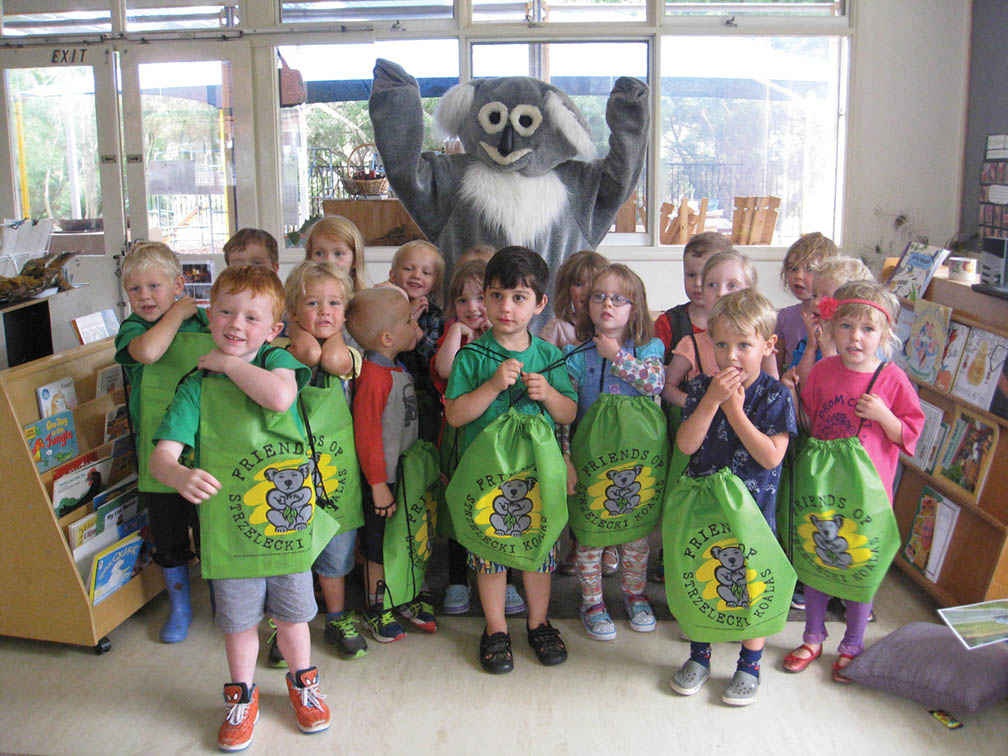 Fosky the Koala was popular at the Fish Creek Kindergarten.