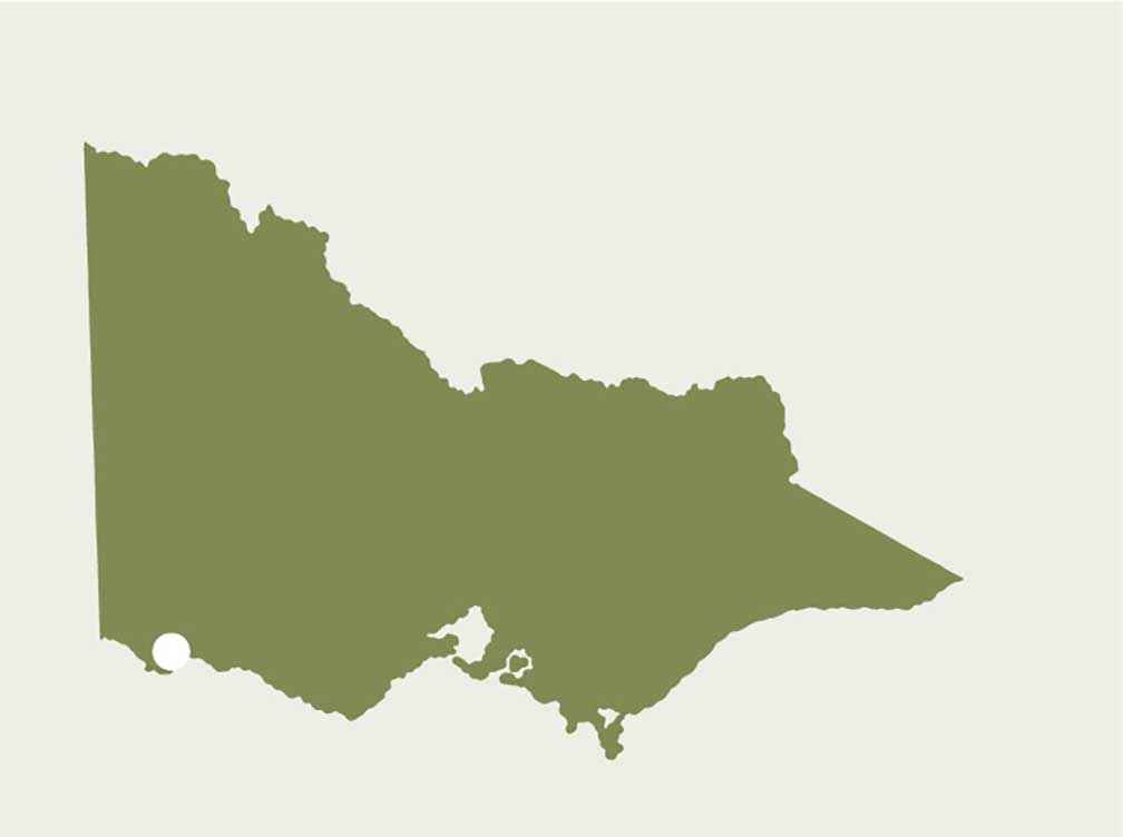 Location of Tarragal Landcare Group